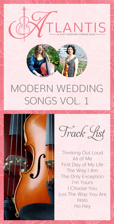 Modern Wedding Songs Vol 1
