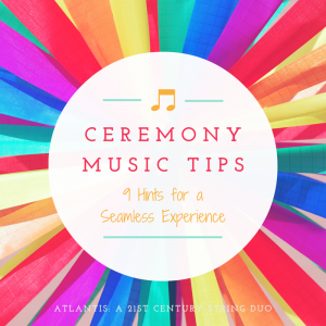 Ceremony Music Tips